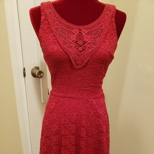 Red homecoming or formal dress